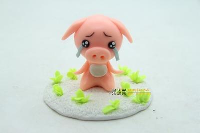 面塑培训-难过的小猪